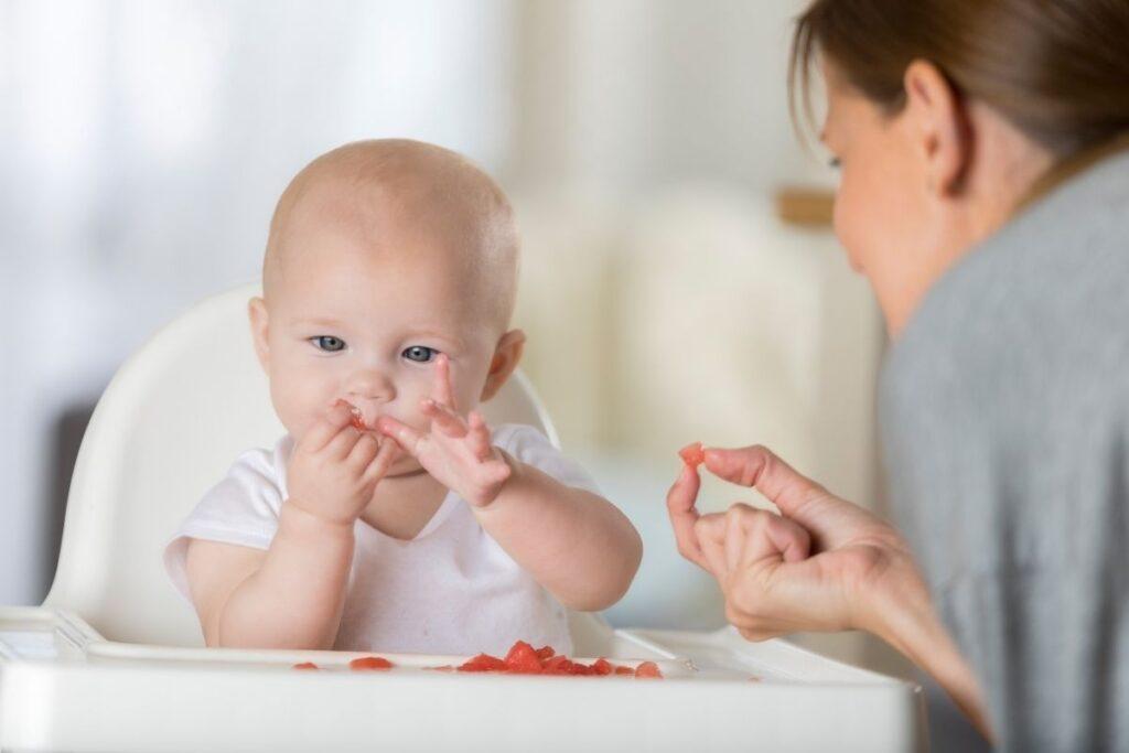 Ripe fruit baby finger food