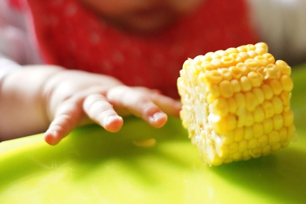 Corn on the cob finger food