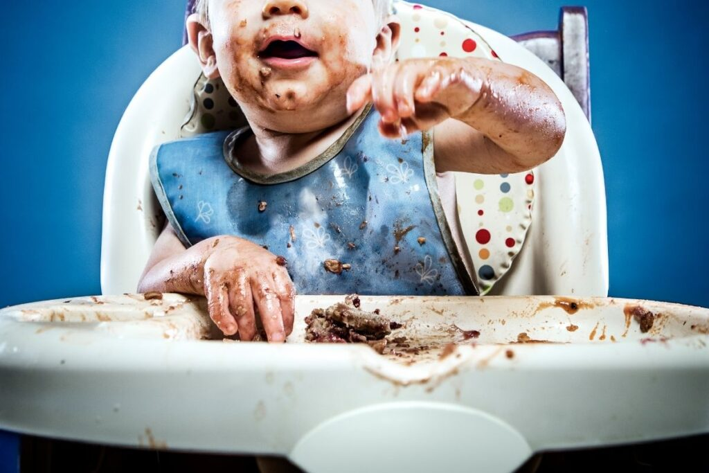 Messy finger foods for babies