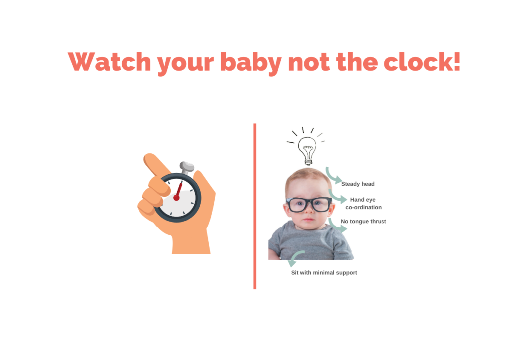 Watch your baby, not the clock!